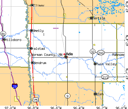 Norman County, MN map