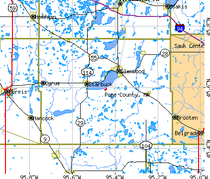Pope County, MN map