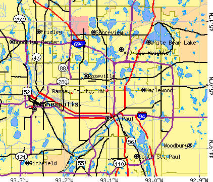 Ramsey County, MN map