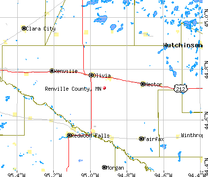 Renville County, MN map