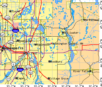 Washington County, MN map