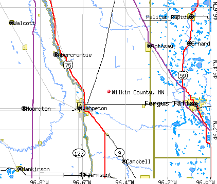 Wilkin County, MN map