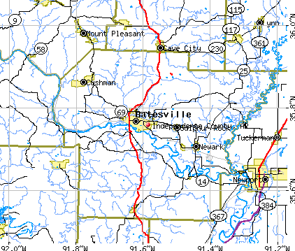 Independence County, AR map