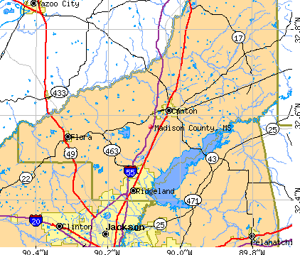 Madison County, MS map