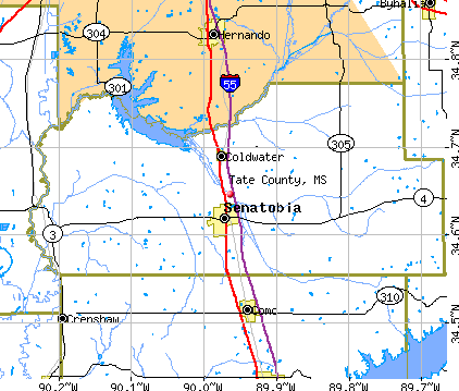 Tate County, MS map