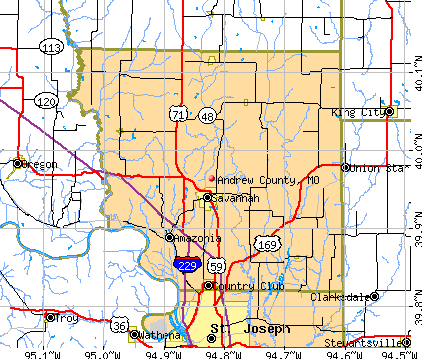 Andrew County, MO map