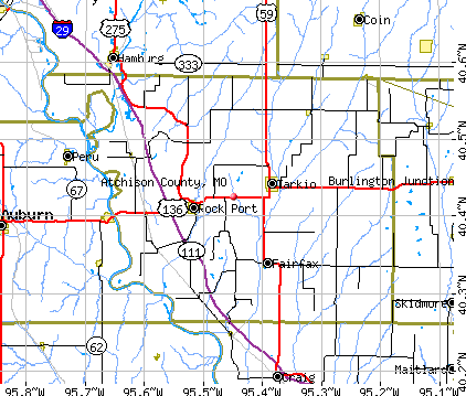Atchison County, MO map