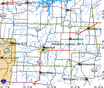 Audrain County, MO map