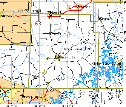Barry County, MO map