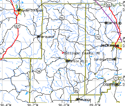 Bollinger County, MO map