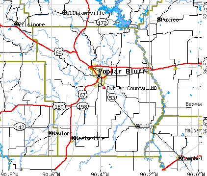 Butler County, MO map