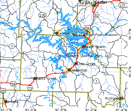 Camden County, MO map