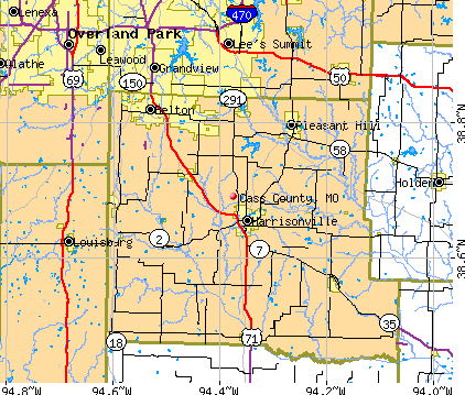 Cass County, MO map