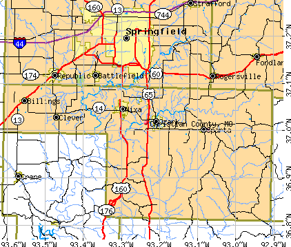 Christian County, MO map
