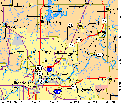 Clay County, MO map