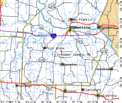 Cooper County, MO map
