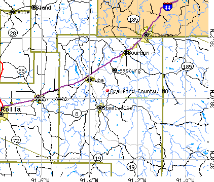 Crawford County, MO map