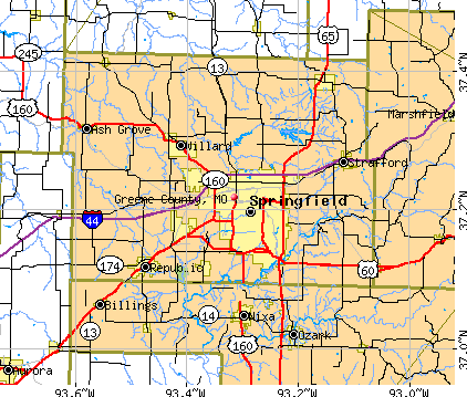 Greene County Missouri Detailed Profile Houses Real Estate - Mo county map