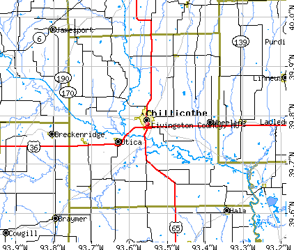 Livingston County, MO map