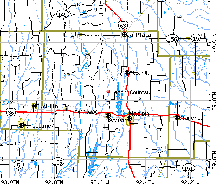 Macon County, MO map