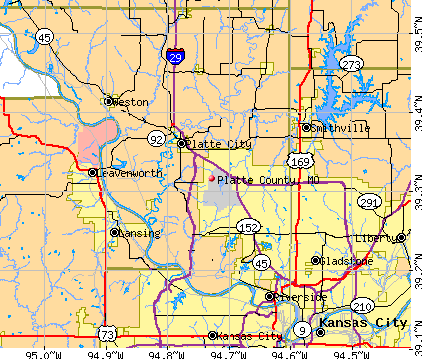 Platte County, MO map