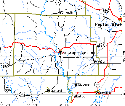 Ripley County, MO map