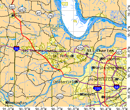 St. Charles County, MO map