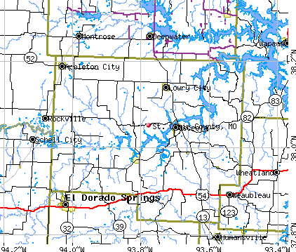 St. Clair County, MO map