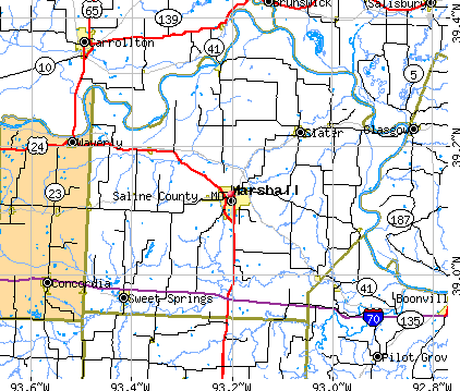 Saline County, MO map