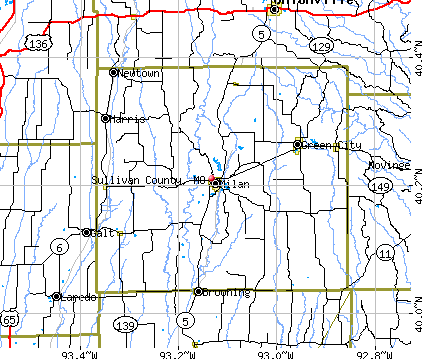 Sullivan County, MO map