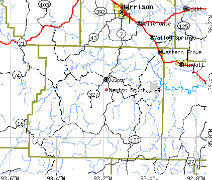 Newton County, AR map