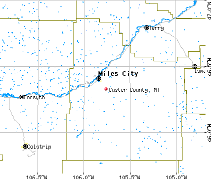 Custer County, MT map