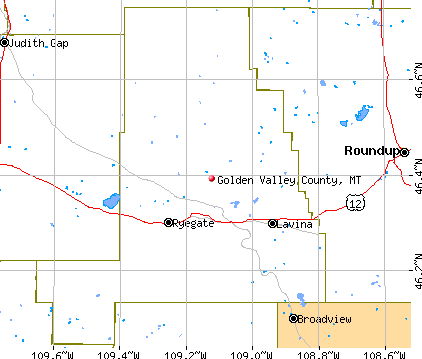 Golden Valley County, MT map