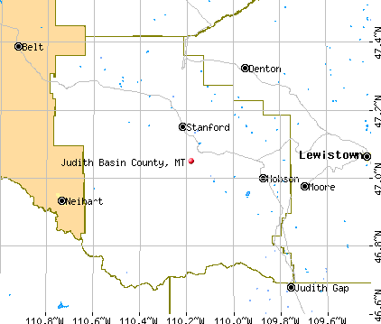 Judith Basin County, MT map