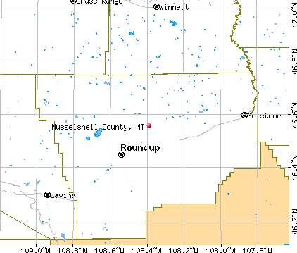 Musselshell County, MT map
