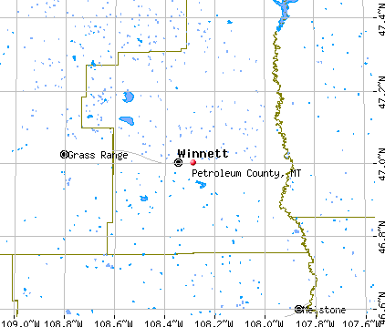 Petroleum County, MT map