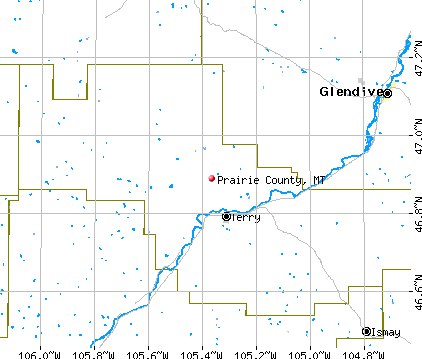 Prairie County, MT map