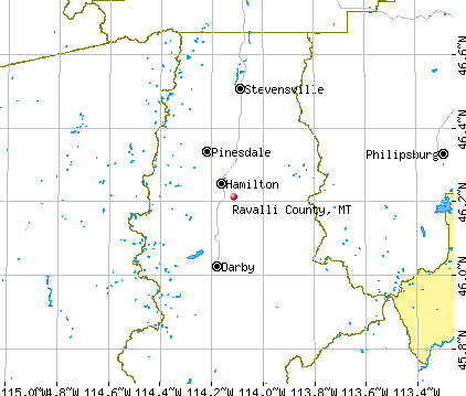 Ravalli County, MT map