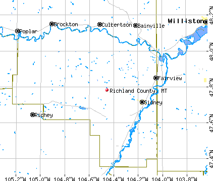 Richland County, MT map