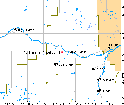 Stillwater County, MT map