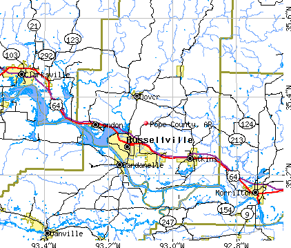 Pope County, AR map