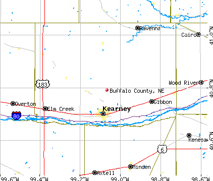 Buffalo County, NE map