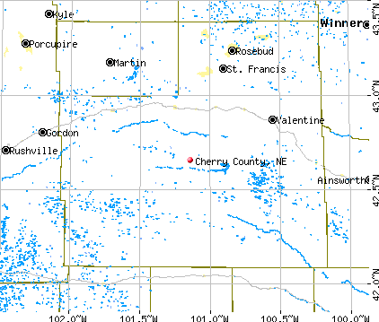 Cherry County, NE map