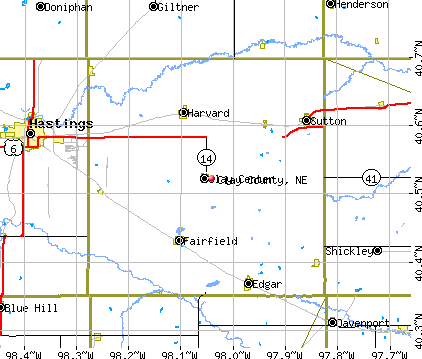 Clay County, NE map