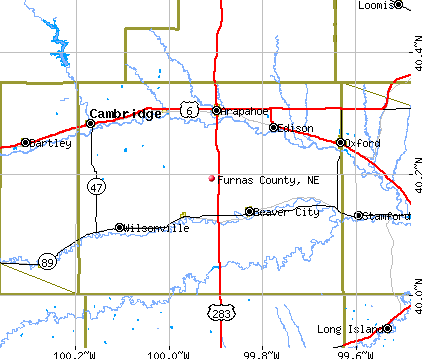 Furnas County, NE map