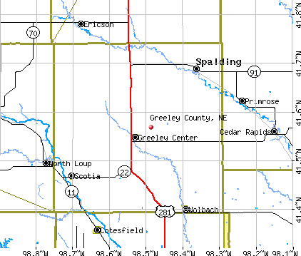 Greeley County, NE map