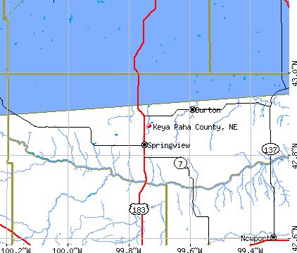 Keya Paha County, NE map