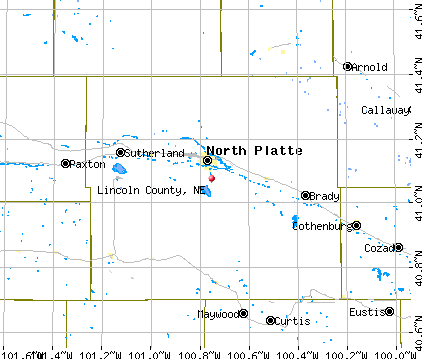 Maps Nebraska Counties Lincoln County ne Map