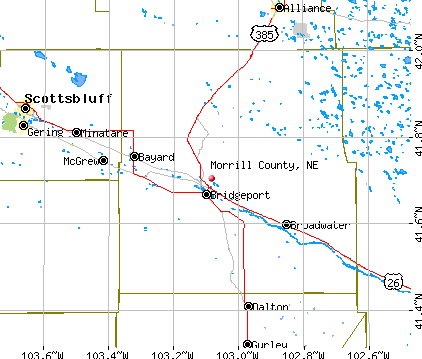 Morrill County, NE map