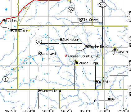 Pawnee County, NE map
